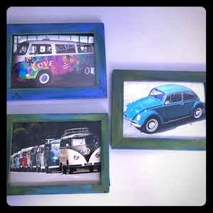 Volkswagen Bug Bus Real Pictures Handmade Set